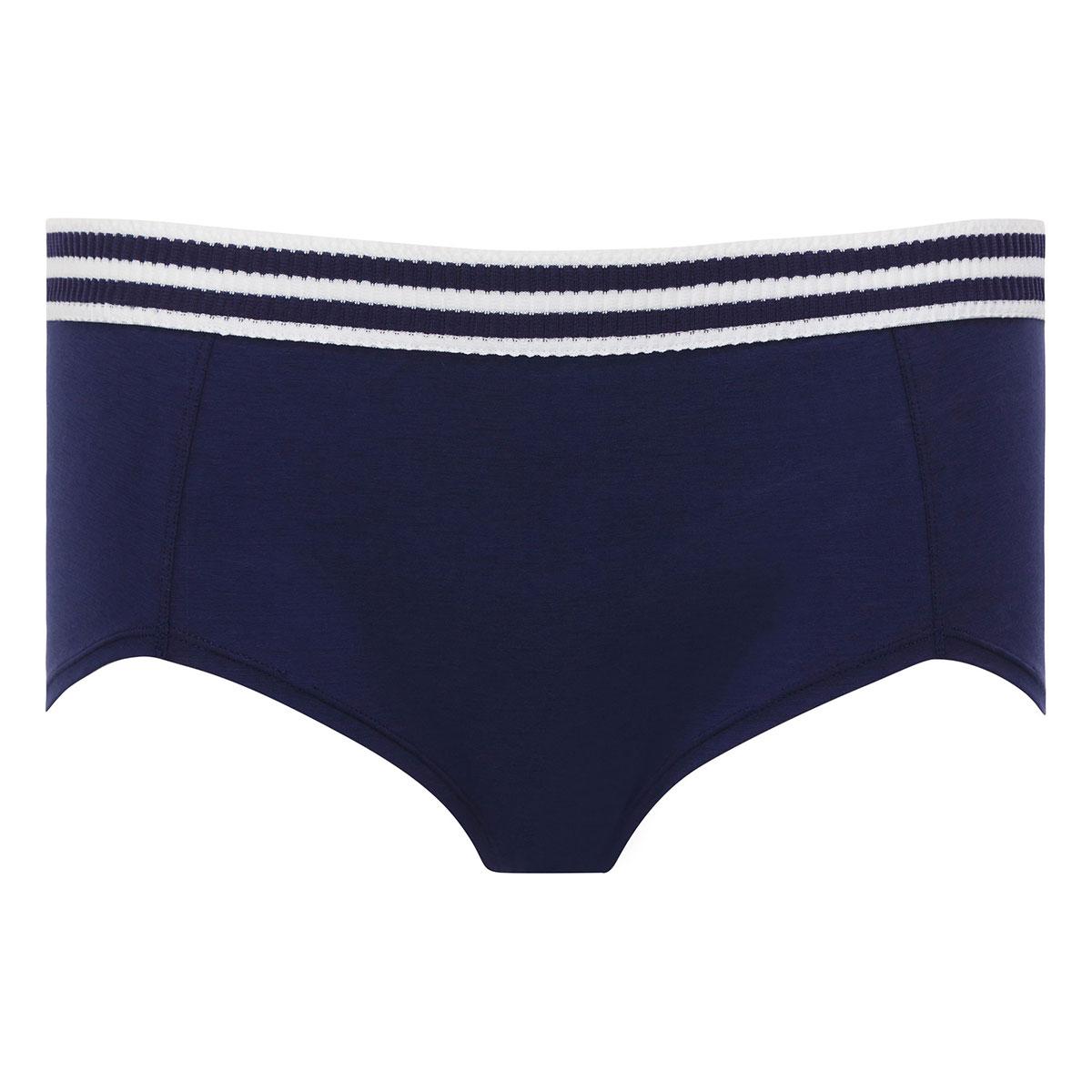 Navy blue & white short - Sporty Chic-PLAYTEX
