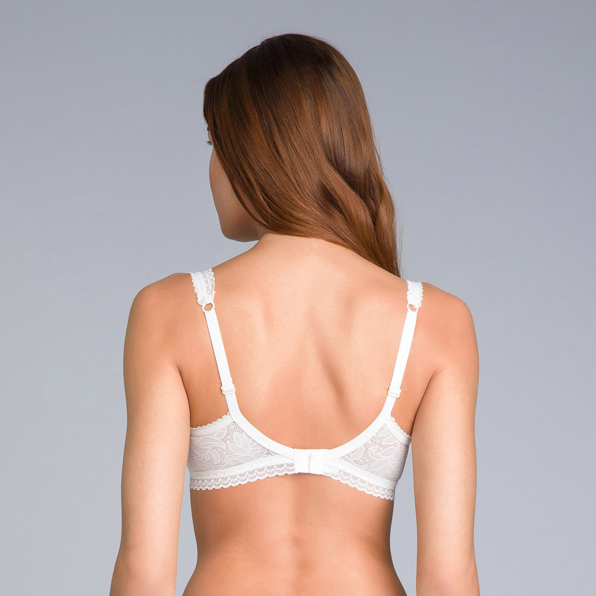 Balcony Bra in Antique White Lace - Invisible Elegance, , PLAYTEX