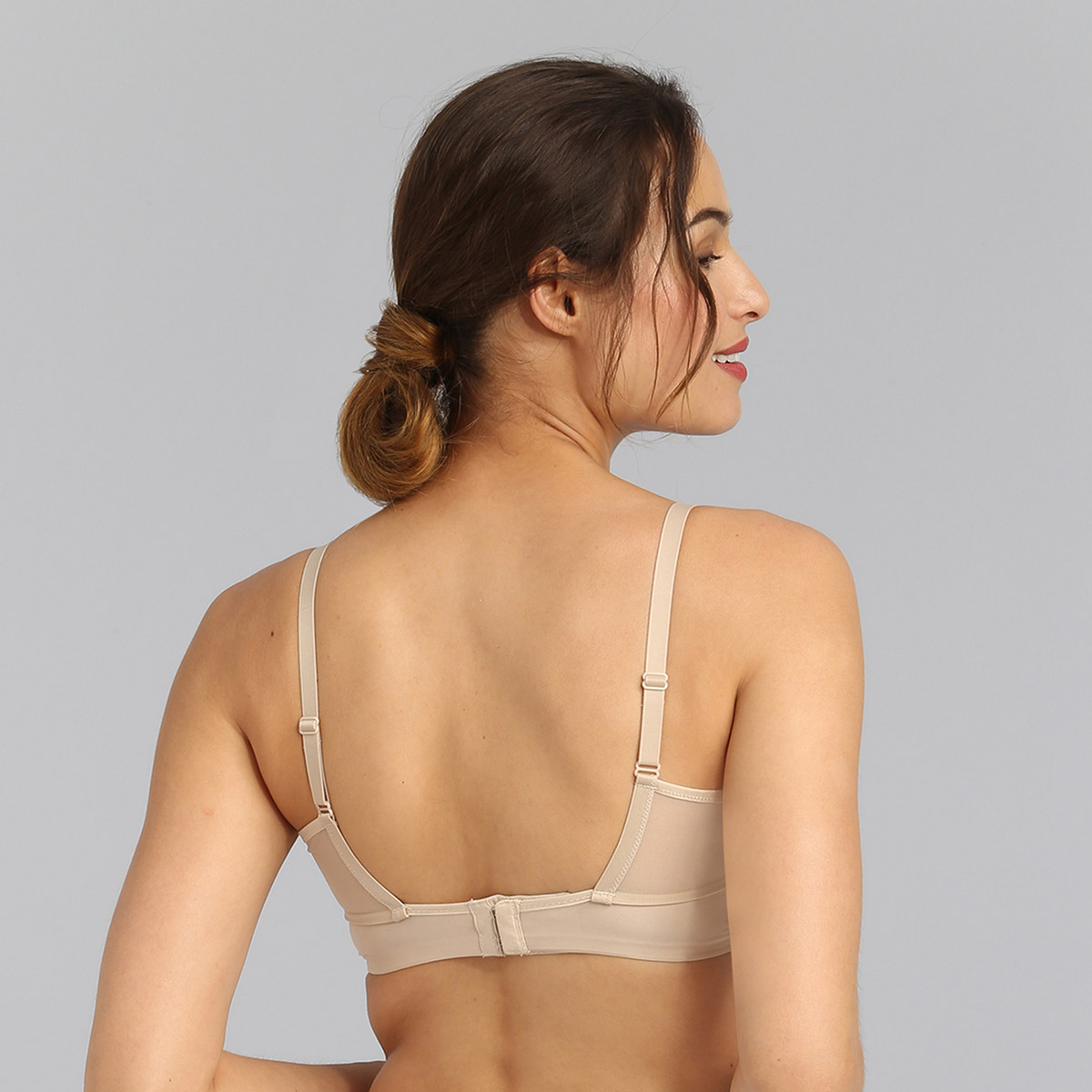 Underwired bra in light brown Perfect Harmony, , PLAYTEX