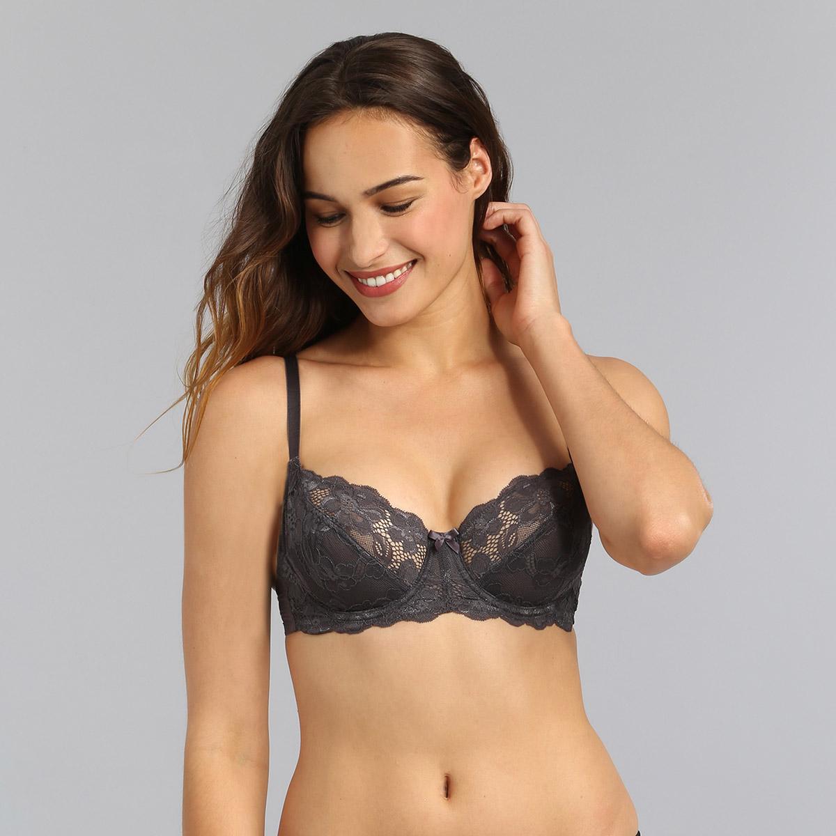 Underwired bra in steel grey Essential Elegance, , PLAYTEX