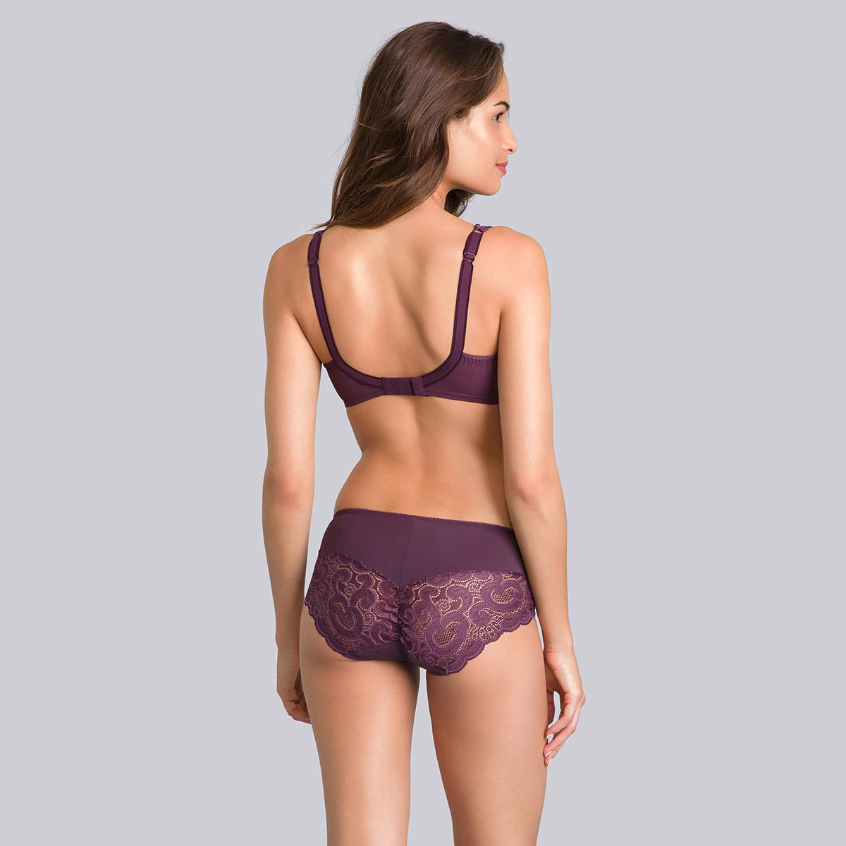 Black plum midi briefs - Invisible Elegance-PLAYTEX