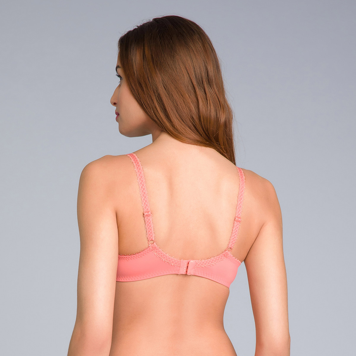 Full Cup Lace Bra in Cinnamon Orange - Flower Elegance - PLAYTEX