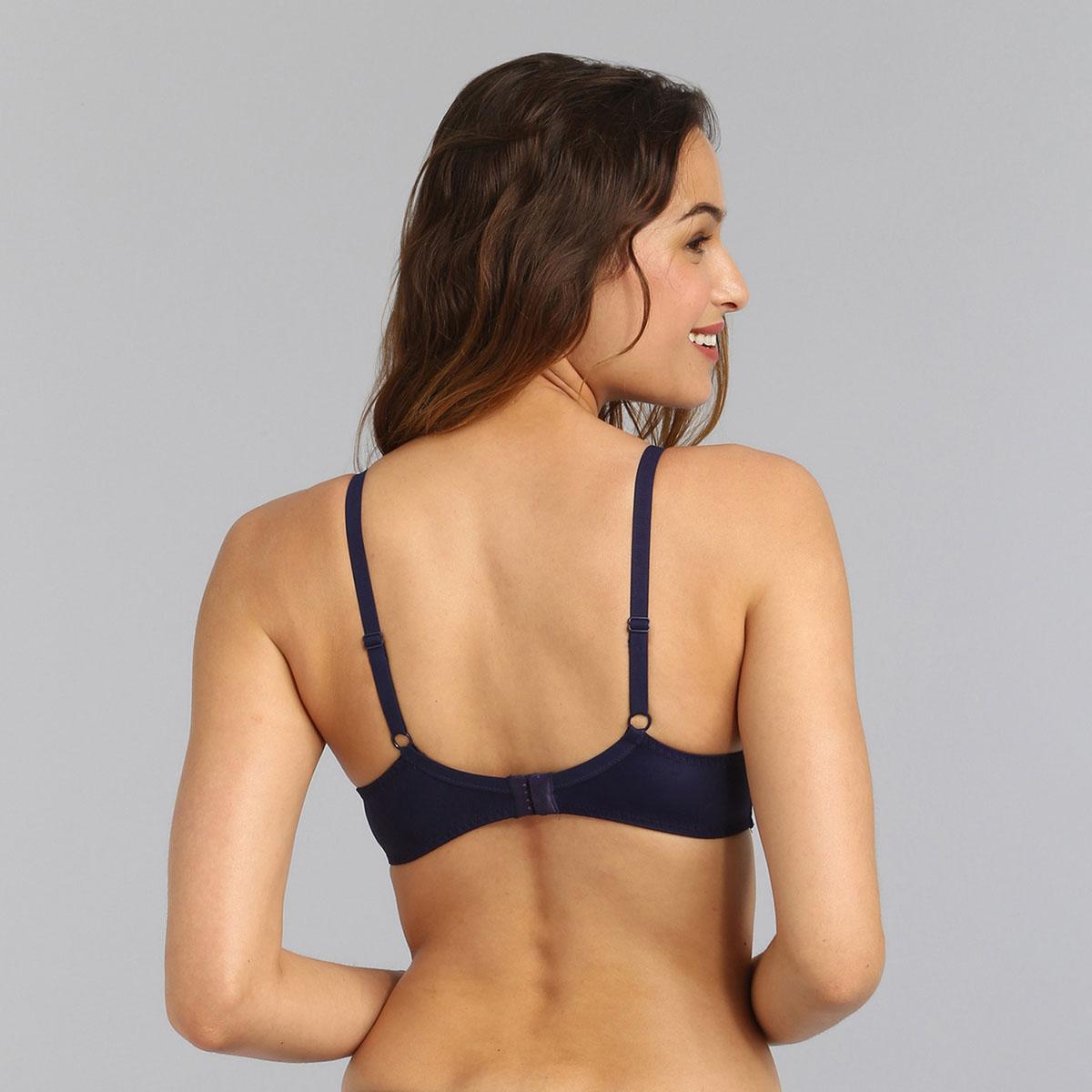 Underwired bra in navy Essential Elegance Embroidery, , PLAYTEX