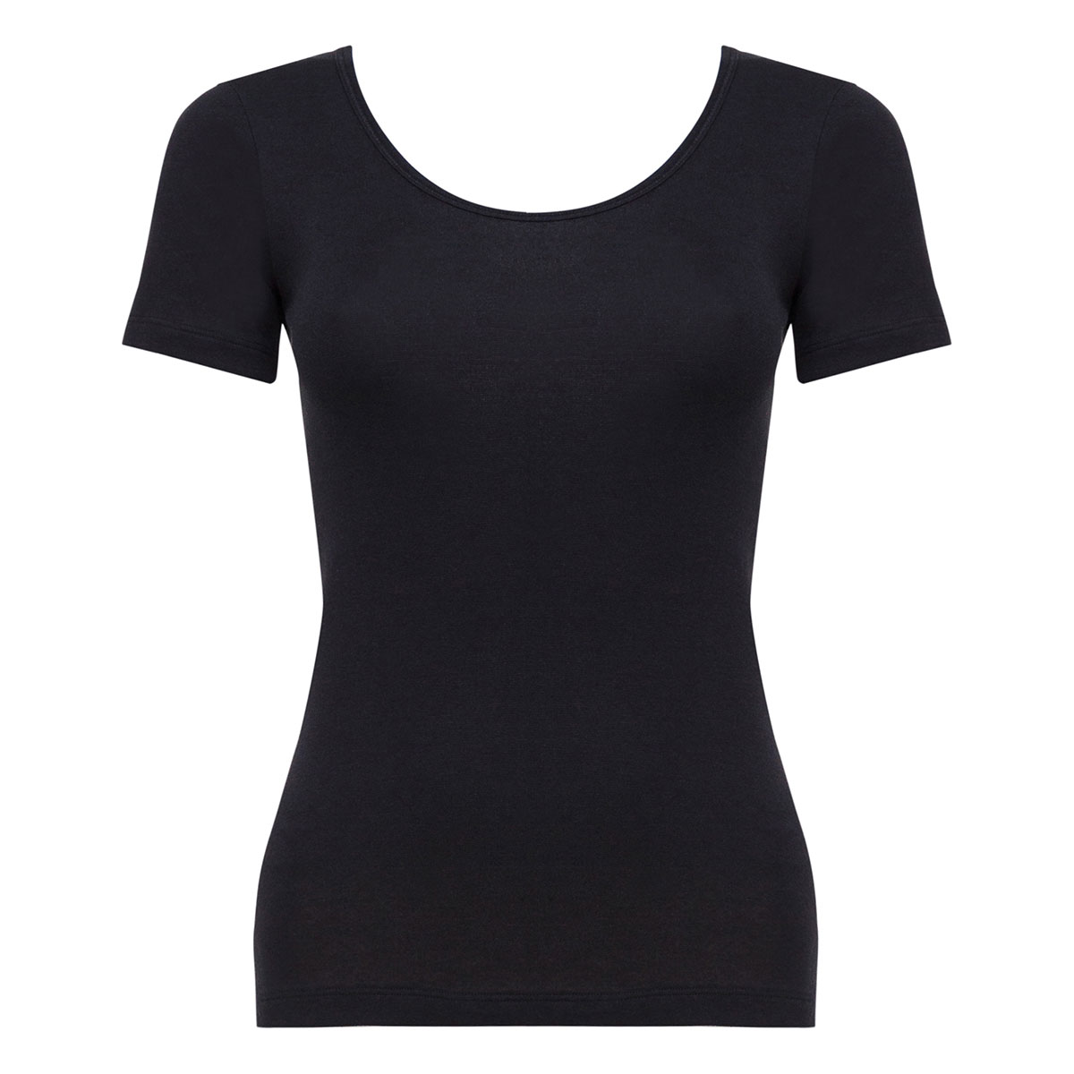 Short Sleeve Top in Black - Cotton Liberty -PLAYTEX