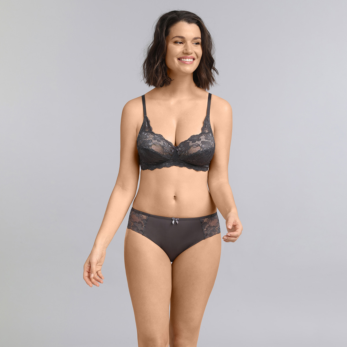 Bikini knickers in grey Essential Elegance , , PLAYTEX