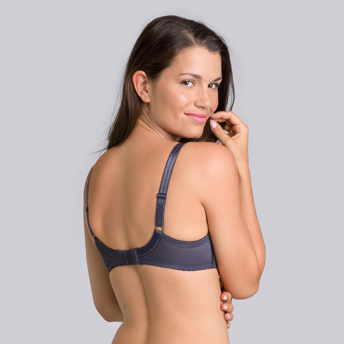 Steel grey Cross your Heart Feminine underwired bra-PLAYTEX
