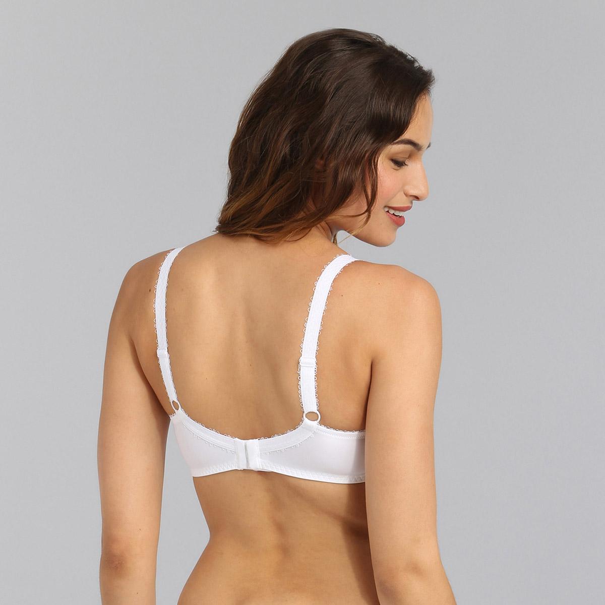 Non-wired bra in white Flower Elegance, , PLAYTEX