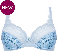 Full Cup Bra in Lace and Printed Microfibre