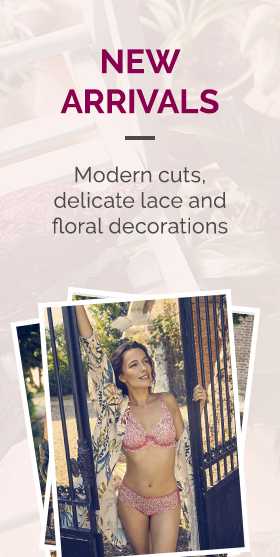 New arrivals - Modern cuts, delicate lace and floral decorations