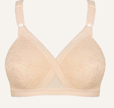 Non-Wired Full Cup Bra Opaque Classic Floral Lace