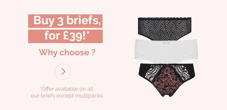 Buy 3 briefs, get 20% off!*