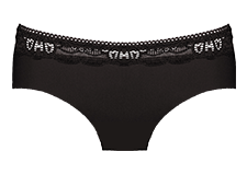Midi brief in black