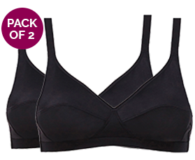 Pack of 2 Non-Wired bras